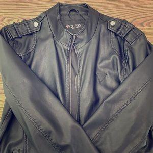 Guess Men's Faux Leather Jacket